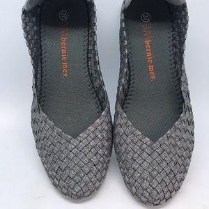 Metallic Gray Slip On shoes